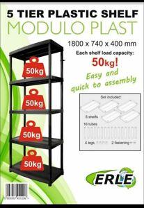 5 tier plastic shelving unit