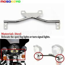 Motorcycle Spotlight Bar Turn Signal Light Clamp Mount Bracket For Harley Yamaha