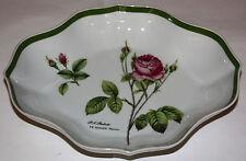 Hutschenreuther Bandeja de presentación oval Rosa m. y verde Borde decorado kor,