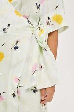 Topshop Mármol Floral Vestido Envolvente De Boutique Talla 6/34 EE. UU. 2 RRP £ 89.00