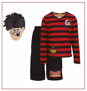 Boys Kids Beano Dennis The Menace Fancy Dress Costume Book Week Character Outfit