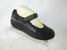 Skechers Shape-ups Size 7 M Black Leather Mary Jane Casual Shoes For Women