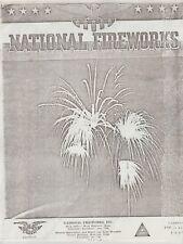 1949 National Fireworks Firecracker Catalog Reprint Hanover, Ma