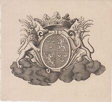 § Ex-libris héraldique COURTIN de NEUBOURG / CHABANNES LA PALICE §
