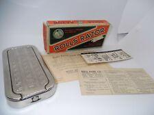 Vintage Rolls Razor Shaving Kit, Made in England, Collectible Barber Strop