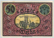 Notgeld - Stadt Weida - 50 Pfennig 1921 - Motiv 2 - Ruine der Wiedenkirche