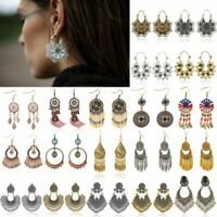 Women Charm Bohemian Vintage Tassel Earrings Drop Dangle Jewellery Gift Party