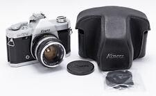 (110) KOWA SET-R SLR film camera w/50/1.9, cap, strap, case, beautiful