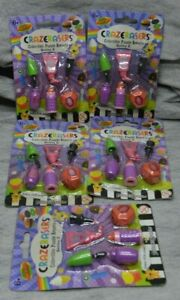 Lot 5 CRAZERASERS Collectable Series 2 Novelty Make-up Makeup Erasers NEW