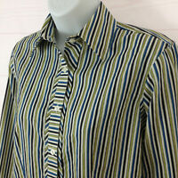Van Heusen womens size XS striped multicolor collared button up wrinkle free top