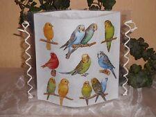 Tischlicht/Windlicht - Vögel - Wellensittiche/Kanarienvögel
