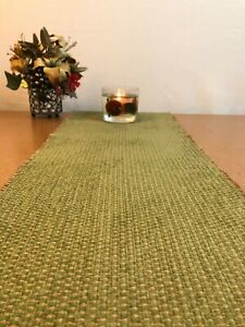 58 x 11 inchTABLE RUNNER Olive Green Gold