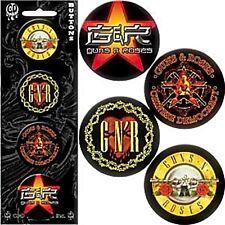 Guns & Roses pack of 4 round pin badges    (cv)  REDUCED!!!