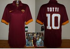Roma 2014/15 Camiseta De Fútbol Casa F. Totti Italia Serie a BNWT Azzuri Nike