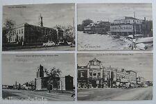 Arlington, Ma. 4 Postcards 1945-1955 CENTER, TOWN HALL, MASS AVE, SPY POND