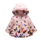 Newborn Toddler Baby Girls Warm Hooded Coat Thick Butterfly Jacket Outerwear
