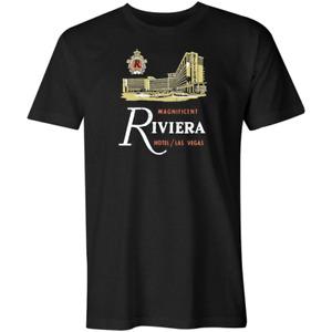 MAGNIFICENT RIVIERA HOTEL - VINTAGE STYLE LAS VEGAS T-SHIRT - BLACK
