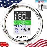 85mm Digital GPS Speedometer W/TFT-LCD Display Odometer Voltmeter For Car Boat