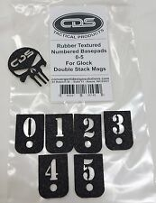 """Glock Grip Tape for Factory Magazines Base Pads numbered  0-5 Granulate """"Grit"""""""
