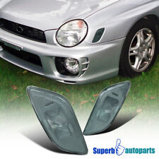 For 2002-2003 Subaru Impreza WRX RS Side Marker Turn Signal Lights Smoke