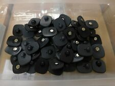 Lot 50 Black Eas Magnetic Anti-Theft Security Tags with Non-Ink Pins
