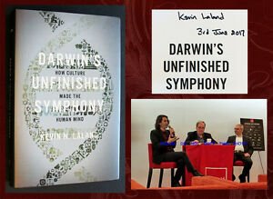 SIGNED - DARWIN'S UNFINISHED SYMPHONY, by Kevin Laland (Evolution) Event Photos!