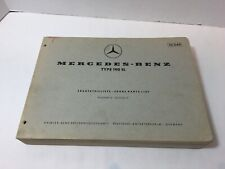 Mercedes 190SL Spare Parts List Edition D, with extra shop copy sheets