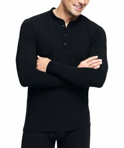 LAND'S END Men's Wool Blend Thermaskin Natural Henley Base Layer SIZE XX-LARGE