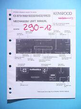 Service Manual-Anleitung für Kenwood KX-W791/KX-W891/KX-W6030/KX-W4030