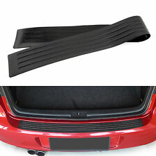 Car Rear Bumper Sill Protector Plate Rubber Cover Guard Back Door Boot Crash AU