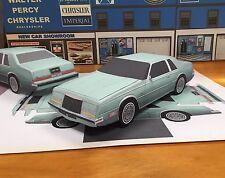 PaperCraft Chrysler IMPERIAL EZU-make paper model car 1981-1983 Sea Spray Green