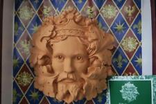 GREEN KING WALL PLAQUE terracotta DAVID LAWRENCE
