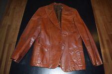 Reymont Brown 100% Genuine Satin Leather 70's Jacket Made in Argentina Vintage