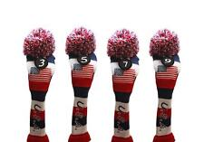 3 5 7 9 USA GOLF Driver Headcover Red White Blue KNIT Head Covers Headcovers