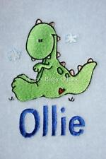 Personalised Baby Blanket with Dinosaur Design, Gift!