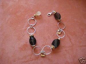 Wunderschöne Armband Sterlingsilber Quarzsteine -- NEU