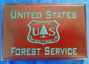 """USFS Forest Service Dept of Agriculture Cherry Walnut Hunter Green Paint 4"""" X 6"""""""