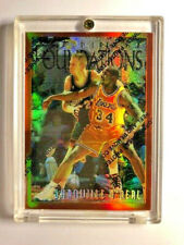 1996-97 1997-98 Topps Finest Shaquille Oneal Foundations Refractor # 243