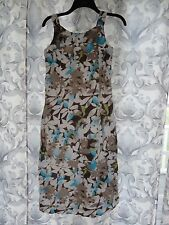 J.JILL... 2 Petite blue/brown womens dress, fully lined EUC!!