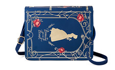 New Disney Beauty and the Beast Belle & Roses Book Blue Purse Crossbody Bag
