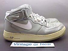 Nike Air Force 1 Mid '07 Medium Grey White 315123-007 sz 9.5