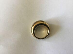 CALVIN KLEIN Damenring goldfarbene Typ ELLIPSE sehr gute Zustand
