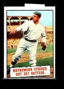 1961 TOPPS #408 MATHEWSON STRIKES OUT 267 BATTERS NRMINT(OC) E01966