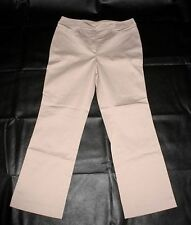 7//8 Webhose Gr 44 schwarz rosa leichte Hose Satin Streifen Business NEU