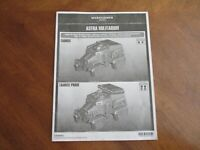 INSTRUCTIONS ONLY Warhammer 40K Start Collecting Astra Militarum Taurox / Prime