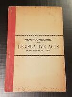 CANADA 1914 EMERGENCIES AND WAR MEASURES ACT NF Legislative Acts War Session WWI