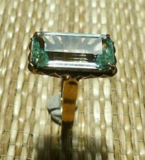 Ancienne Bague Aigue Marine Or 18 Carats Bijou Antique Aquamarine 18K Gold Ring