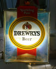 vintage Drewry's Sparkling Pure Beer lighted sign 14 x 17 x 5 Bar Wisconsin