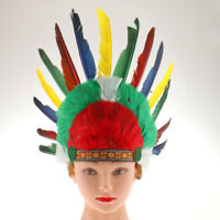 Adult Native American Feather Headband Indian Chief Headdress Party Costume