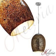Lampe Suspendue Ø18cm Bronze Mosaïque Verre Pendentif Lumière Plafonnier